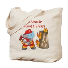 Firefighter Uncle Tote Bag