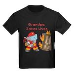 Firefighter Grandpa Kids Dark T-Shirt