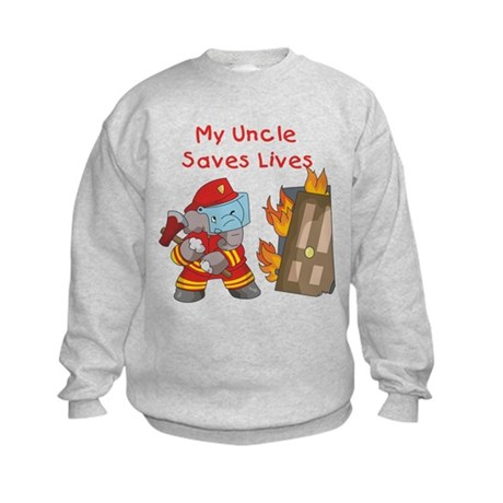 Firefighter Uncle Kids Sweatshirt
