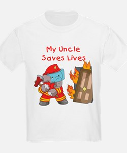 Firefighter Uncle T-Shirt