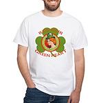 Red Hair Green Heart Irish Girl White T-Shirt