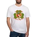 Red Hair Green Heart Irish Girl Fitted T-Shirt