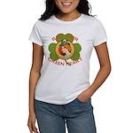 Red Hair Green Heart Irish Girl Women's T-Shirt