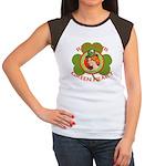 Red Hair Green Heart Irish Girl Women's Cap Sleeve