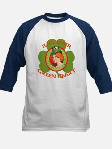 Red Hair Green Heart Irish Girl Tee
