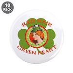 Red Hair Green Heart Irish Girl 3.5