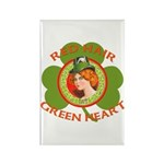 Red Hair Green Heart Irish Girl Rectangle Magnet (