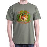 Red Hair Green Heart Irish Girl Dark T-Shirt