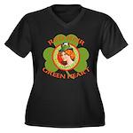 Red Hair Green Heart Irish Girl Women's Plus Size