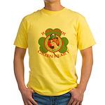 Red Hair Green Heart Irish Girl Yellow T-Shirt