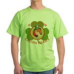 Red Hair Green Heart Irish Girl Green T-Shirt