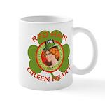 Red Hair Green Heart Irish Girl Mug