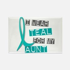 I Wear Teal For My Aunt 37 Rectangle Magnet