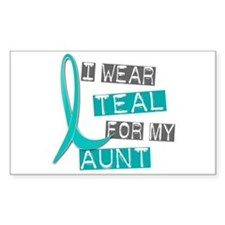 I Wear Teal For My Aunt 37 Rectangle Decal