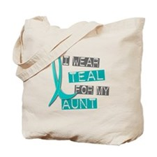 I Wear Teal For My Aunt 37 Tote Bag