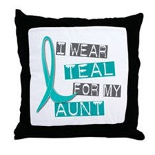 I Wear Teal For My Aunt 37 Throw Pillow
