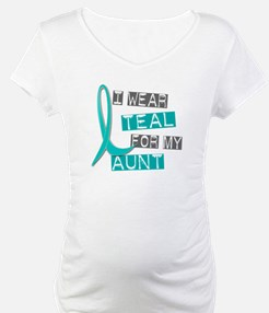 I Wear Teal For My Aunt 37 Shirt