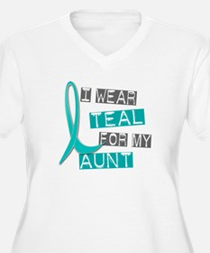I Wear Teal For My Aunt 37 T-Shirt