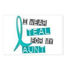 I Wear Teal For My Aunt 37 Postcards (Package of 8