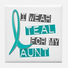 I Wear Teal For My Aunt 37 Tile Coaster