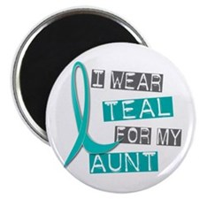 "I Wear Teal For My Aunt 37 2.25"" Magnet (10 pack)"