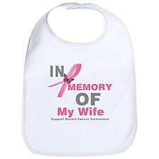 BreastCancerInMemoryWife Bib