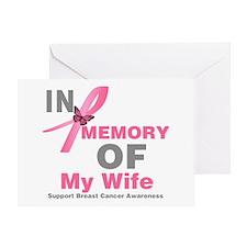 BreastCancerInMemoryWife Greeting Card