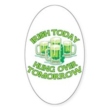 IRISH Hangover Green Beer Decal