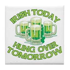IRISH Hangover Green Beer Tile Coaster
