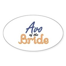 Avo of the Bride Oval Decal