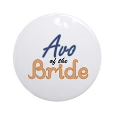 Avo of the Bride Ornament (Round)
