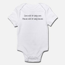 Cows milk for Baby cows Infant Bodysuit