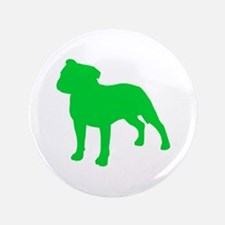 "Staffordshire Bull Terrier St. Patty's Day 3.5"" Bu"