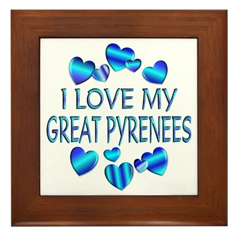 Pyrenees Framed Tile