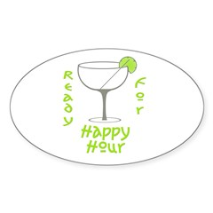 Happy Hour Oval Decal