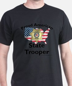 Proud American State Trooper Gray T-Shirt