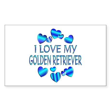 Retriever Rectangle Sticker 10 pk)