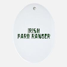 Irish Park Ranger Oval Ornament