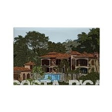 Beach house in costa rica Rectangle Magnet