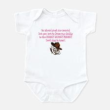 Daddy: Baddest Marine [Pink] Infant Bodysuit