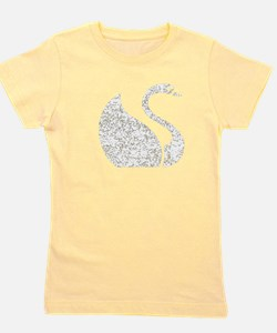 Distressed Swan Silhouette T-Shirt