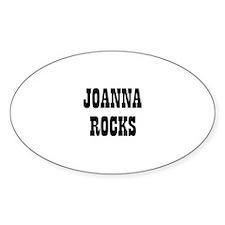 JOANNA ROCKS Oval Decal