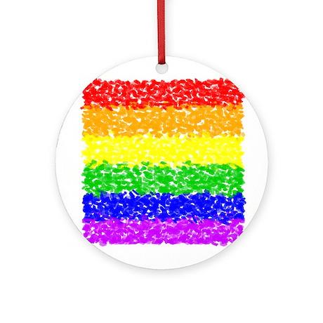 Gay Pride Impressionist Ornament (Round)