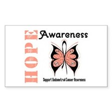 Endometrial Cancer Hope Rectangle Decal