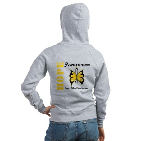 Childhood Cancer Hope Women's Zip Hoodie