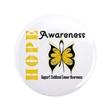 "Childhood Cancer Hope 3.5"" Button"