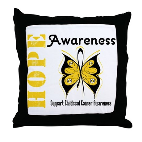 Childhood Cancer Hope Throw Pillow