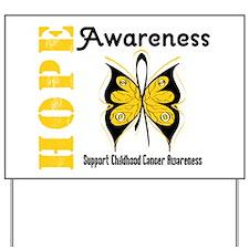 Childhood Cancer Hope Yard Sign
