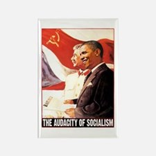 the audacity of socialism Rectangle Magnet
