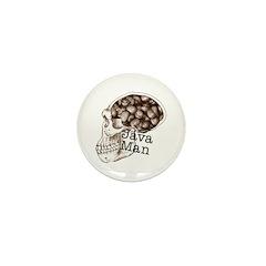 Java Bean Man Mini Button (10 pack)